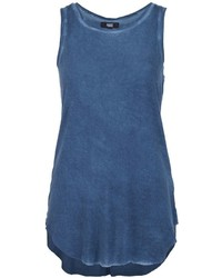 Camiseta sin Manga Azul de Paige