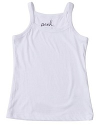 Camiseta sin manga blanca