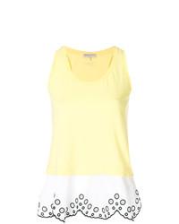 Camiseta sin manga bordada amarilla de Emilio Pucci