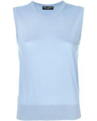 Camiseta sin manga celeste de Dolce & Gabbana