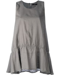 Camiseta sin manga con volante gris de Odeeh