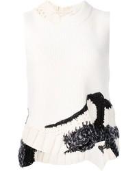 Camiseta sin Manga de Crochet Blanca de 3.1 Phillip Lim