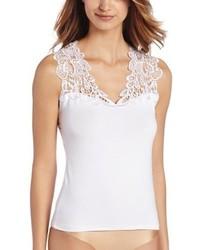 Camiseta sin Manga de Encaje Blanca de Arianne