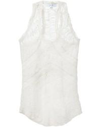 Camiseta sin Manga de Encaje Blanca de IRO