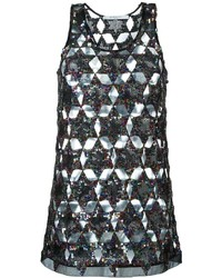 Camiseta sin manga de lentejuelas negra de Givenchy