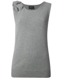 Camiseta sin Manga de Punto Gris de Lanvin