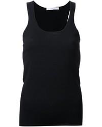 Camiseta sin manga de punto negra de Dion Lee