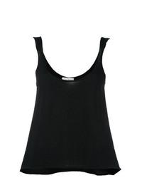 Camiseta sin manga de punto negra de Le Kasha
