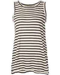 Camiseta sin manga de rayas horizontales en negro y blanco de Current/Elliott