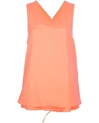 Camiseta sin manga de seda naranja de Chloé