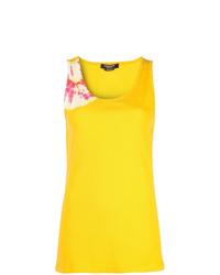 Camiseta sin manga efecto teñido anudado amarilla de Calvin Klein 205W39nyc