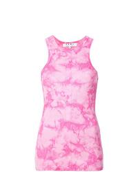 Camiseta sin manga efecto teñido anudado rosada de Proenza Schouler