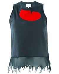 Camiseta sin Manga en Gris Oscuro de 3.1 Phillip Lim