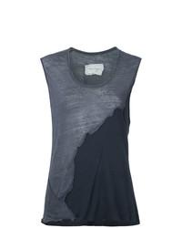 Camiseta sin manga en gris oscuro de Greg Lauren
