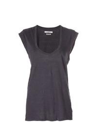 Camiseta sin manga en gris oscuro de Isabel Marant Etoile