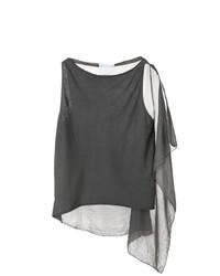 Camiseta sin manga en gris oscuro de Lost & Found Ria Dunn