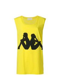 Camiseta sin manga estampada amarilla de Faith Connexion