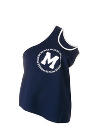 Camiseta sin manga estampada azul marino de Monse
