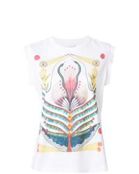 Camiseta sin manga estampada blanca de Chloé