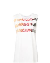 Camiseta sin manga estampada blanca de Faith Connexion