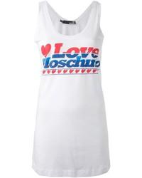 Camiseta sin Manga Estampada Blanca de Love Moschino