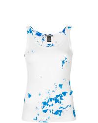 Camiseta sin manga estampada blanca de Suzusan