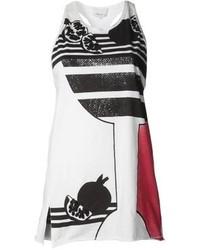 Camiseta sin manga estampada en blanco y negro de 3.1 Phillip Lim