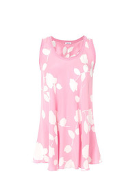 Camiseta sin manga estampada en blanco y rosa de P.A.R.O.S.H.
