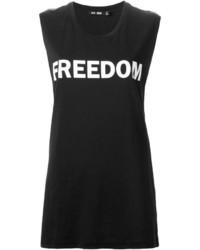 Camiseta sin manga estampada en negro y blanco de BLK DNM