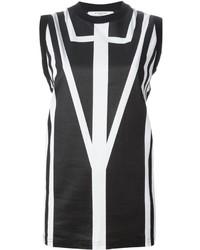 Camiseta sin manga estampada en negro y blanco de Givenchy