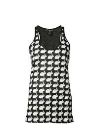 Camiseta sin manga estampada en negro y blanco de Thomas Wylde
