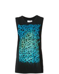 Camiseta sin manga estampada negra de Faith Connexion