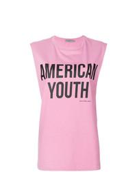 Camiseta sin Manga Estampada Rosada de Calvin Klein Jeans