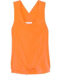 Camiseta sin manga naranja