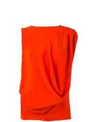 Camiseta sin manga naranja de Gianluca Capannolo