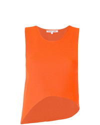 Camiseta sin manga naranja de Helmut Lang