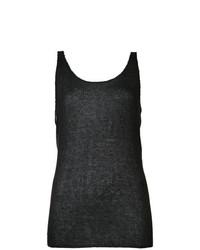 Camiseta sin manga negra de Baja East