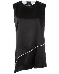 Camiseta sin manga negra de DKNY