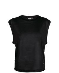 Camiseta sin manga negra de Dsquared2