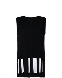 Camiseta sin manga negra de Maison Margiela