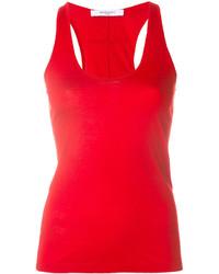 Camiseta sin manga roja de Givenchy