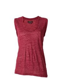 Camiseta sin Manga Roja de Isabel Marant