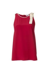 Camiseta sin manga roja de RED Valentino