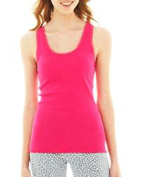 Camiseta sin manga rosa