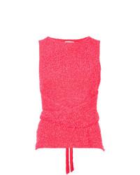 Camiseta sin manga rosa de Dion Lee