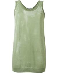 Camiseta sin manga verde oliva de Givenchy