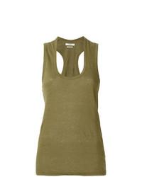 Camiseta sin Manga Verde Oliva de Isabel Marant Etoile
