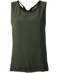 Camiseta sin manga verde oliva de Marni