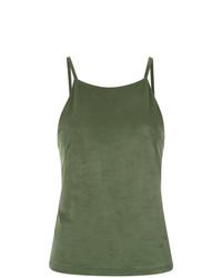 Camiseta sin Manga Verde Oliva de Olympiah
