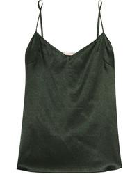 Camiseta sin manga verde oscuro